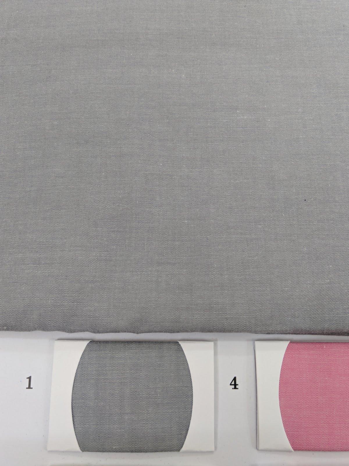 Light Grey Cotton Shirt Chambray fabric