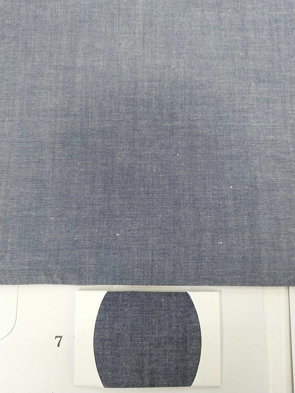 Denim shirt fabric