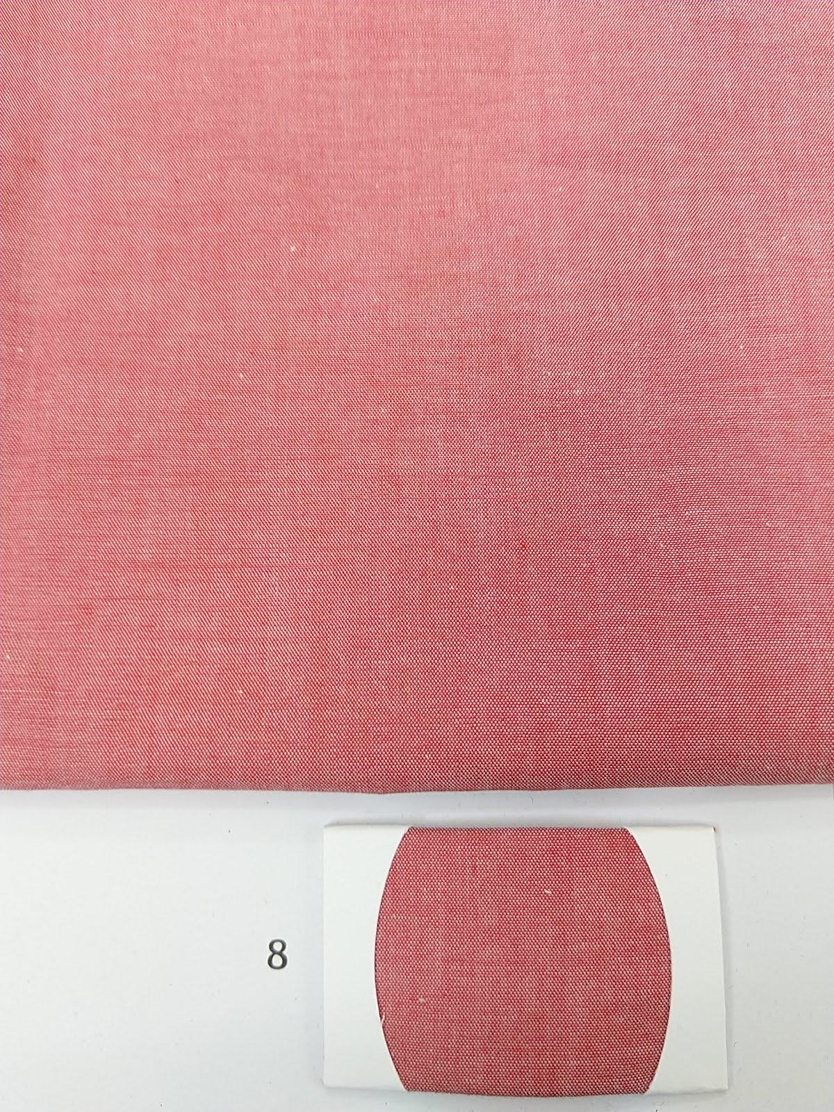 Red denim fabric