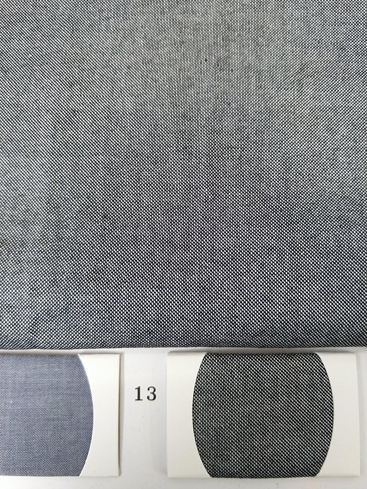 ขาย ผ้าอ๊อกฟอร์ด สีดำตัดขาว