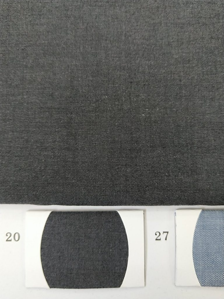 Cotton Shirt Fabric Dark grey