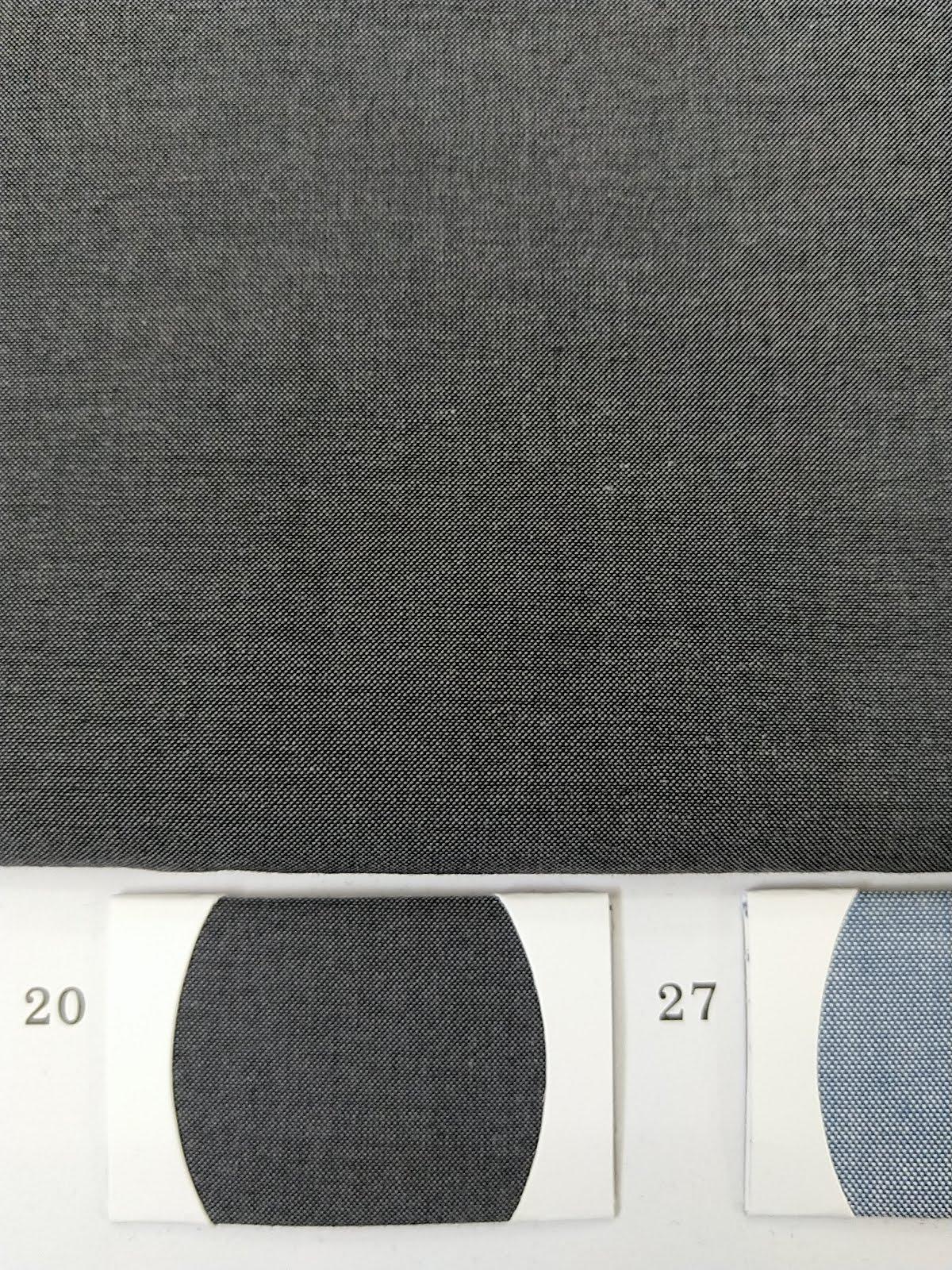 Cotton Shirt Fabric Dark grey