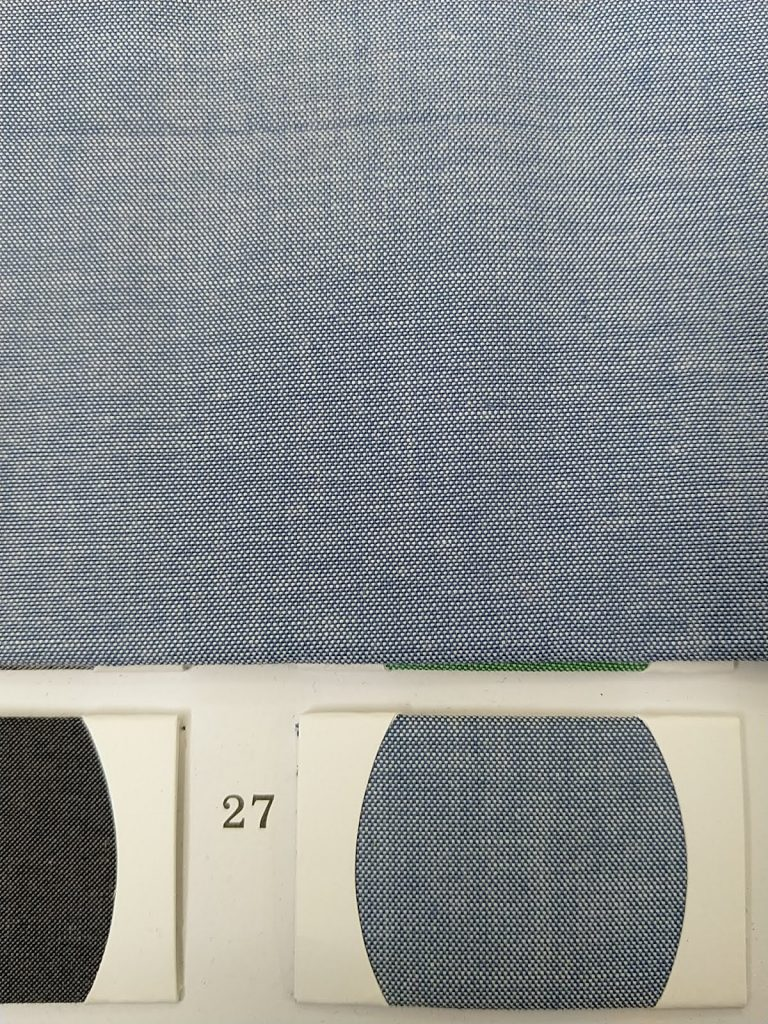 Indigo Blue Denim look shirt fabric