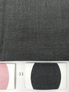Two tone dark grey and black chambray