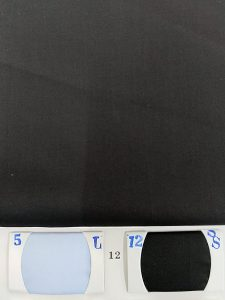 Black Color Cotton fabric for shirts