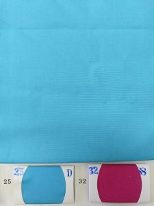 Turquoise blue color plain fabric for shirts
