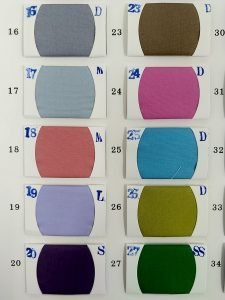 Running Woven Cotton Fabric Colors