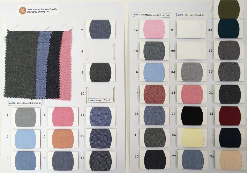 Wholesale cotton chambray shirt fabric